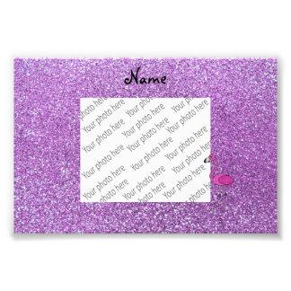 Brillo púrpura personalizado del flamenco conocido foto