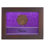 Brillo púrpura personalizado del oso conocido cajas de recuerdos