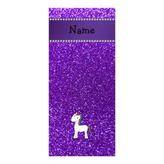Brillo púrpura personalizado del unicornio conocid lonas personalizadas
