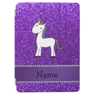 Brillo púrpura personalizado del unicornio cover de iPad air