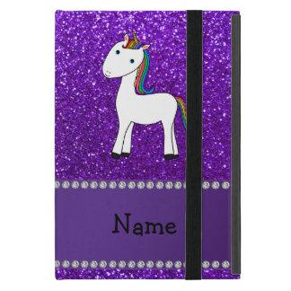 Brillo púrpura personalizado del unicornio iPad mini cárcasas