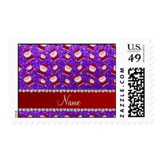 Brillo púrpura personalizado santas del añil sellos