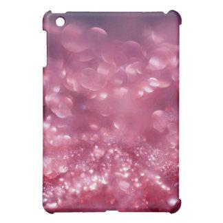 Brillo púrpura rosado bling el caso estrellado del