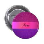 Brillo púrpura rosado conocido personalizado pin