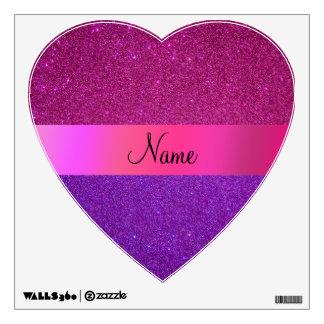 Brillo púrpura rosado conocido personalizado vinilo