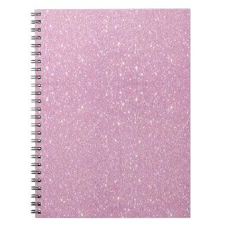 Brillo púrpura suave de moda hermoso shinning libros de apuntes con espiral