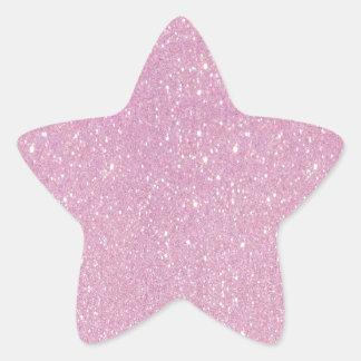 Brillo púrpura suave de moda hermoso shinning pegatina en forma de estrella