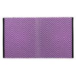 Brillo púrpura y blanco del zigzag