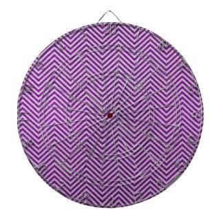 Brillo púrpura y blanco del zigzag tabla dardos