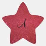 Brillo rojo calcomanía forma de estrella
