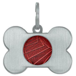Brillo rojo con los elementos placas mascota