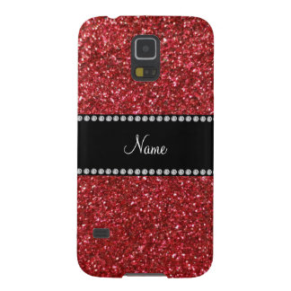 Brillo rojo conocido personalizado carcasas de galaxy s5