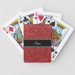 Brillo rojo conocido personalizado baraja cartas de poker