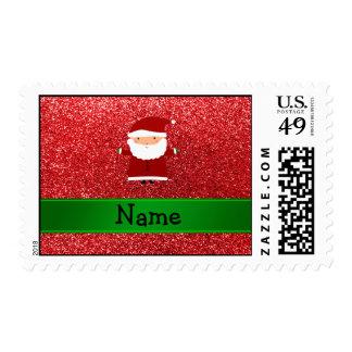 Brillo rojo conocido personalizado de santa envio