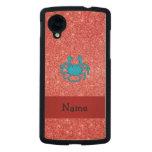 Brillo rojo conocido personalizado del cangrejo funda de nexus 5 carved® de arce