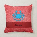 Brillo rojo conocido personalizado del cangrejo almohadas