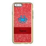 Brillo rojo conocido personalizado del cangrejo funda para iPhone 6 plus incipio feather shine
