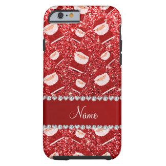 Brillo rojo conocido personalizado santas funda para iPhone 6 tough