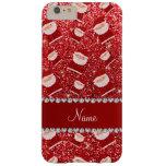 Brillo rojo conocido personalizado santas funda de iPhone 6 plus barely there