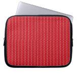 Brillo rojo de la manga del ordenador portátil funda portátil
