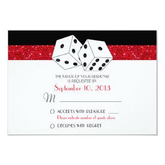Brillo rojo de rubíes de RSVP del tema de los Invitación 8,9 X 12,7 Cm