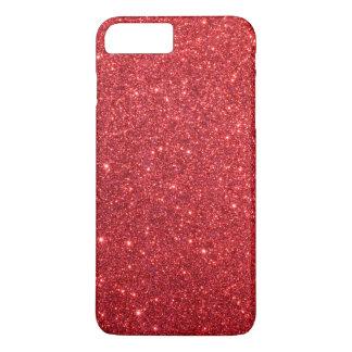 Brillo rojo del acebo del navidad funda iPhone 7 plus