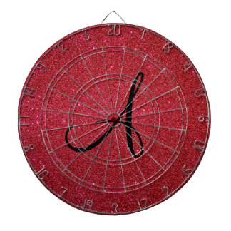 Brillo rojo tablero de dardos