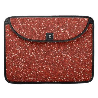 Brillo rojo elegante fundas para macbooks