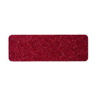 Brillo rojo etiqueta de remite