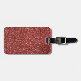 Brillo rojo etiqueta para maleta