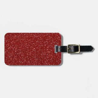 Brillo rojo etiqueta de equipaje