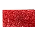 Brillo rojo etiquetas de envío