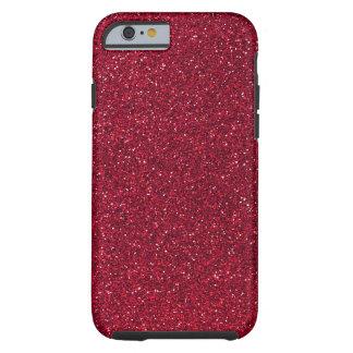 Brillo rojo funda para iPhone 6 tough