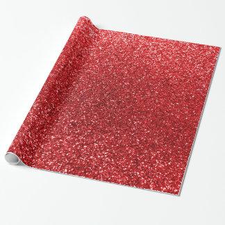 Brillo rojo papel de regalo