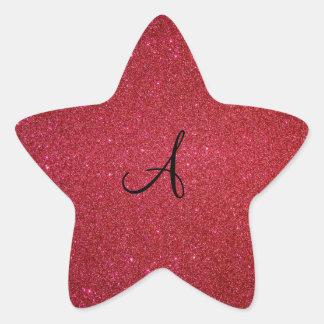 Brillo rojo pegatina en forma de estrella
