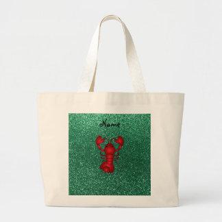 Brillo rojo personalizado de la verde menta de la bolsas