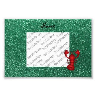 Brillo rojo personalizado de la verde menta de la fotografías