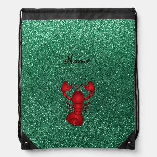 Brillo rojo personalizado de la verde menta de la  mochila