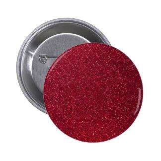 Brillo rojo pin redondo de 2 pulgadas