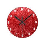 Brillo rojo relojes de pared