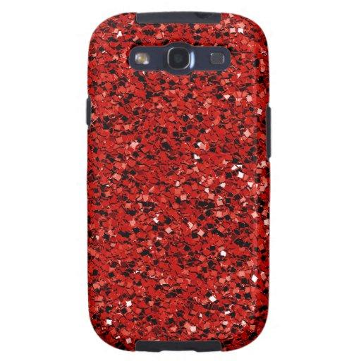 Brillo rojo samsung galaxy s3 cárcasas