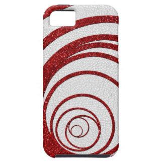 Brillo rojo Swirly Funda Para iPhone 5 Tough