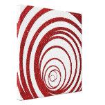 Brillo rojo Swirly Impresiones En Lona Estiradas