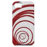Brillo rojo Swirly iPhone 5 Carcasa