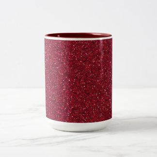 Brillo rojo taza de dos tonos