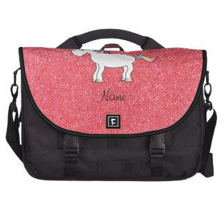 Brillo rosa claro del unicornio conocido del cumpl bolsas de ordenador