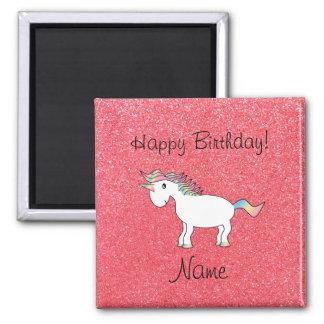Brillo rosa claro del unicornio conocido del cumpl imán de frigorífico