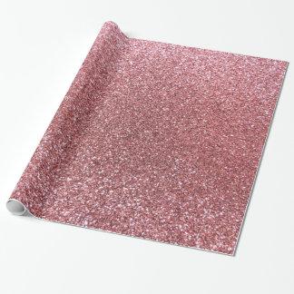 Brillo rosa claro papel de regalo