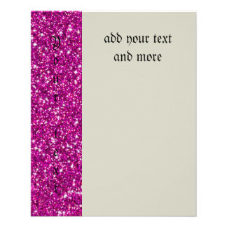 "Brillo, rosa fuerte, femenino, endy, diversión, folleto 4.5"" x 5.6"""