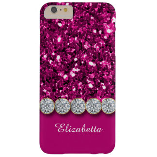 Brillo rosado atractivo y caja brillante de los funda barely there iPhone 6 plus